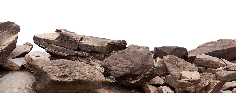 Rock White Background