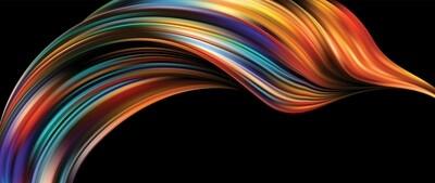 3D Fluid Waves Colorful