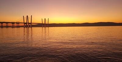 Hudson River Bridge Orange, Purple or Blue
