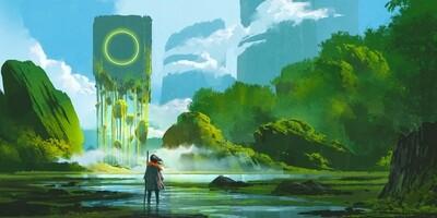 Fantasy Floating Rock
