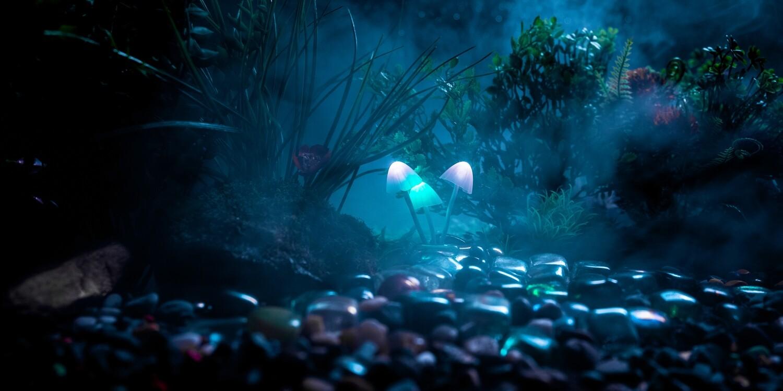 Glowing Mushroom Blue