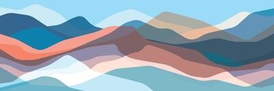 Translucent Pastel Waves