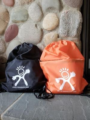 Jurnie Drawstring Backpack - Black