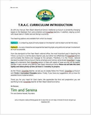 2020 T.R.A.C. Curriculum: Hope (PDF version)