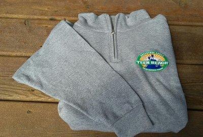 1/4 Zip Gray Sweatshirt