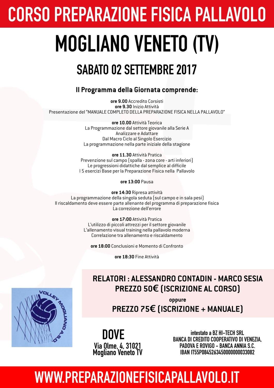 Corso Preparazione Fisica Pallavolo - Mogliano Veneto (TV) 02.09.2017