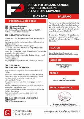 ORGANIZZAZIONE E PROGRAMMAZIONE DEL SETTORE GIOVANILE PALERMO