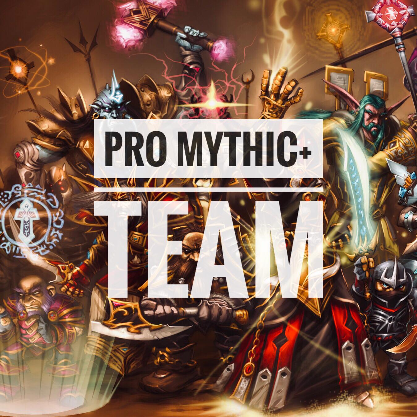 Rent a professional M+ team (High M+ keys)