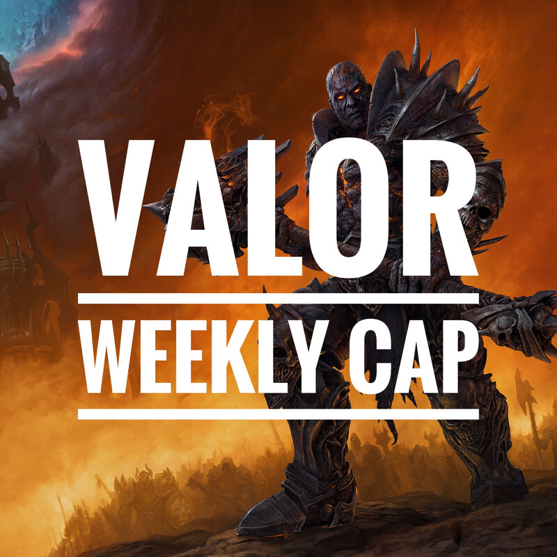 Valor weekly cap (750 valor points)
