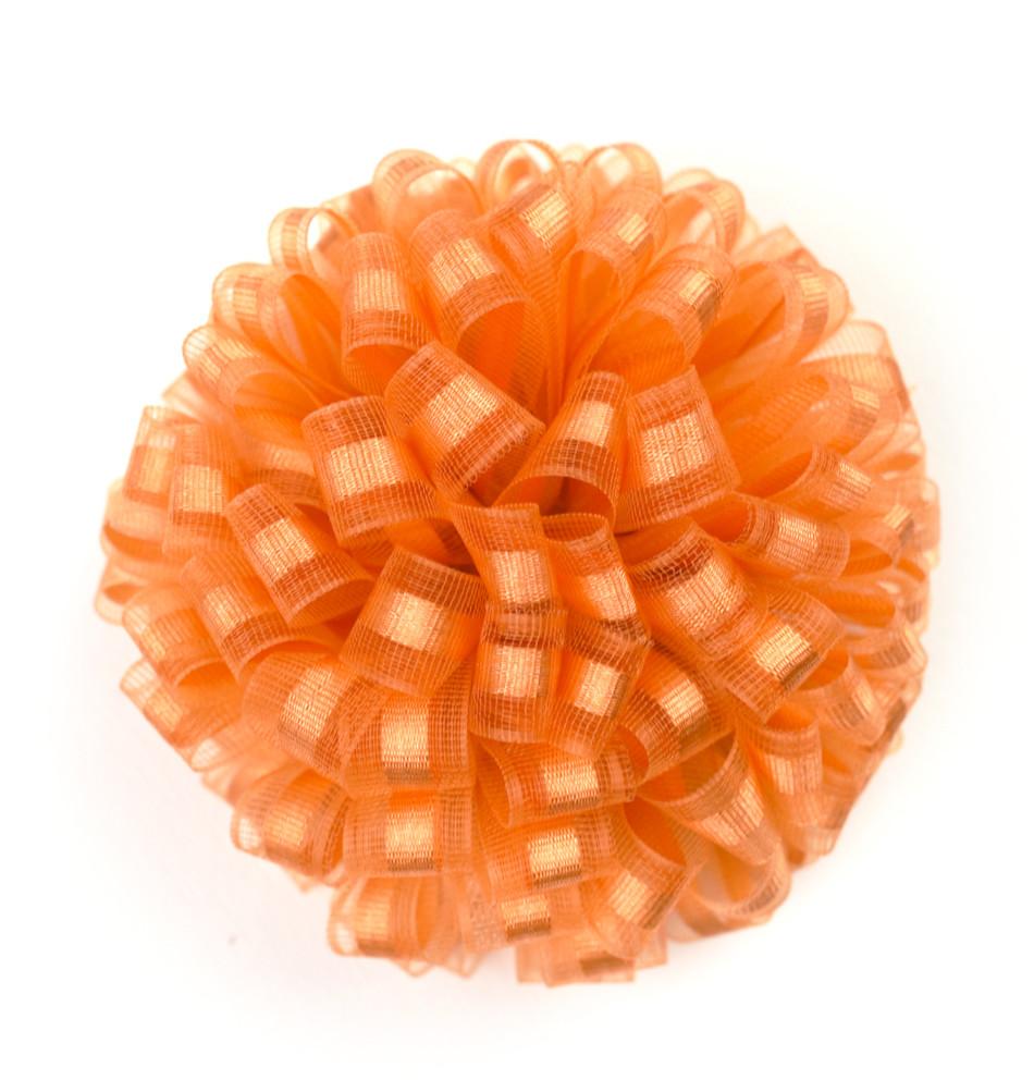 Gancho de listón organza-satinado naranja