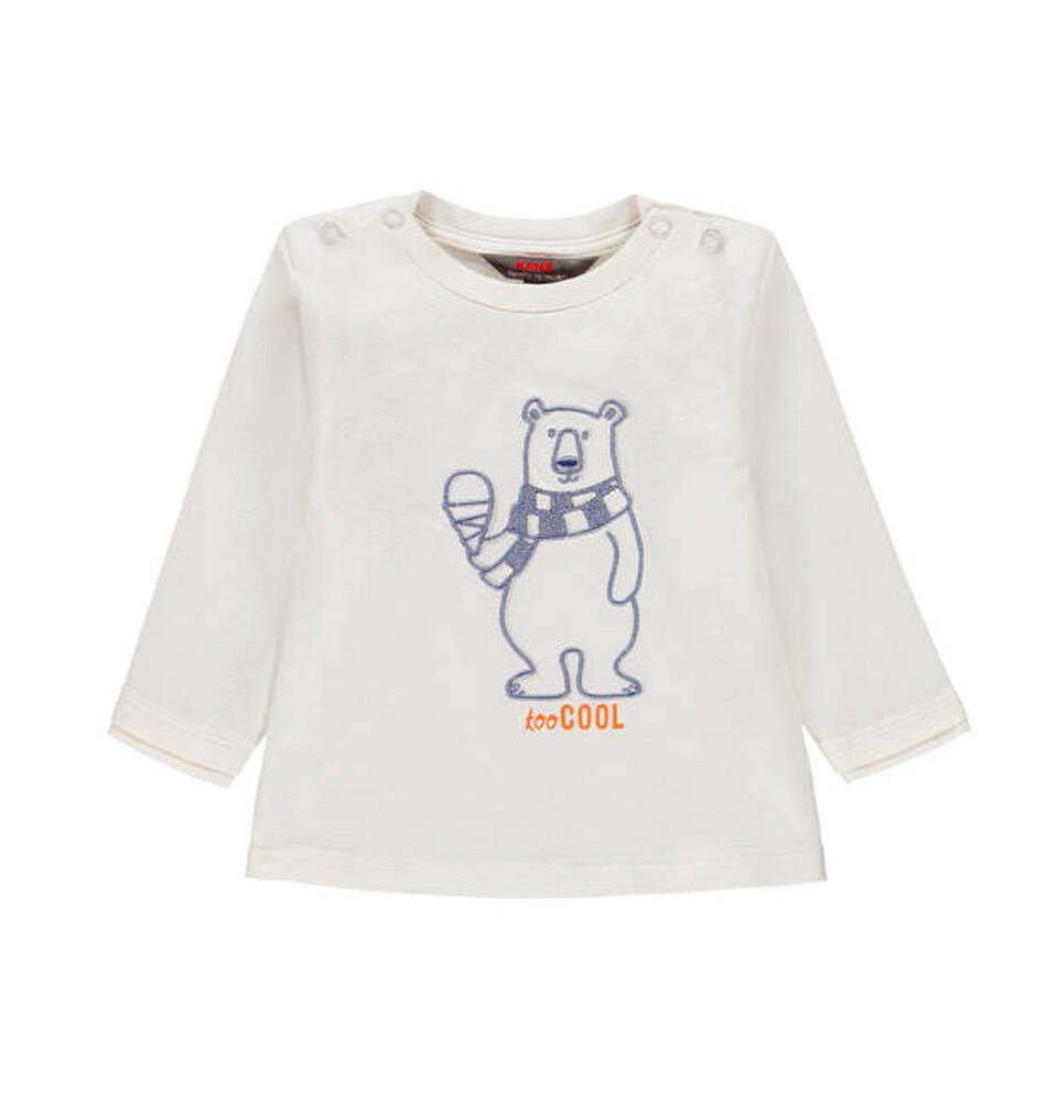T-SHIRT KANZ - Icebears m/l OSO POLAR, lisa, para niño