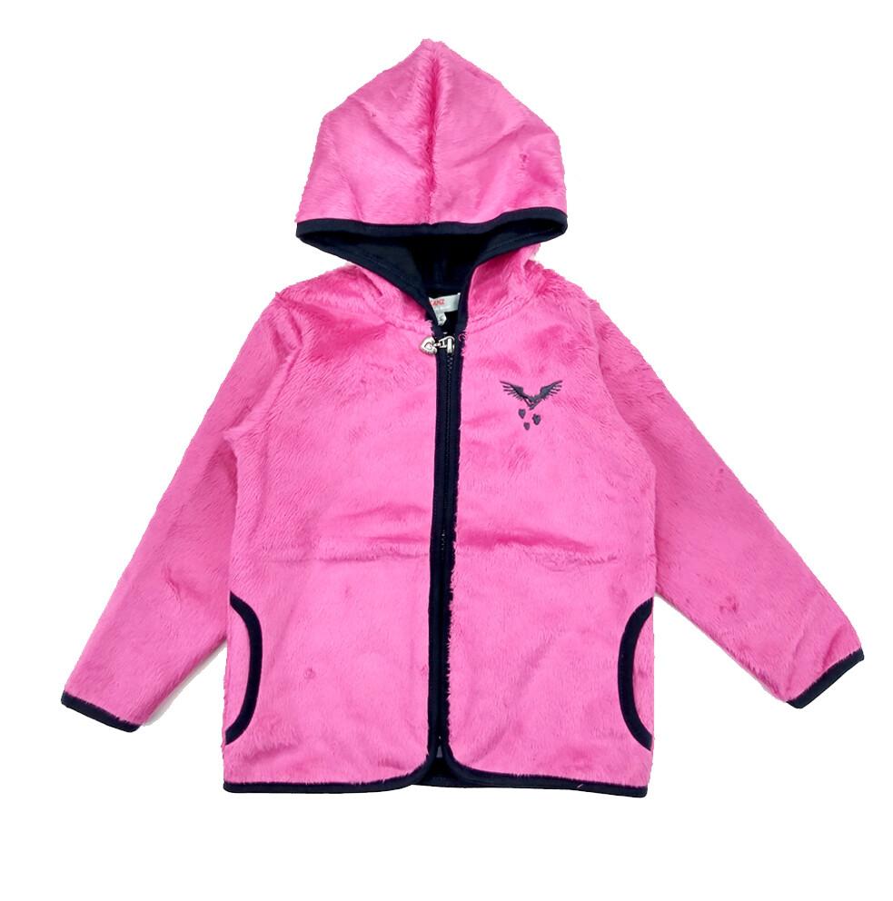 SUDADERO KANZ - fleece capuchón y zipper para niña