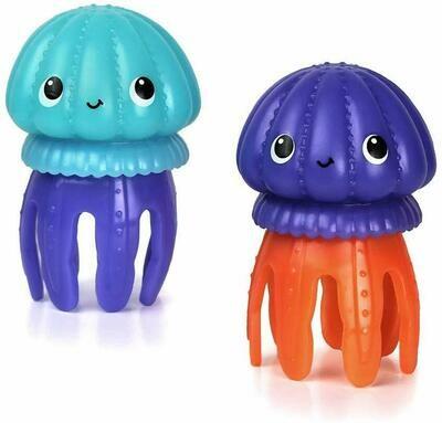 INFANTINO - Juguete para agua de medusa con destellos de luz  c/u