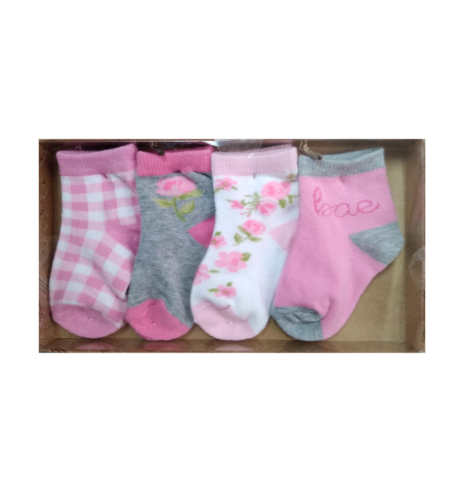 AD SUTTON - Set de regalo, 4 pares de calcetas Baby - Niña