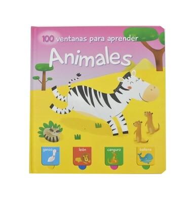 Libro 100 ventanas para aprender Animales