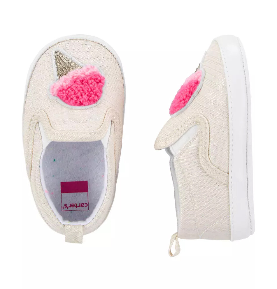 CARTERS - Zapato casual de meter con dibujo helado, para niña