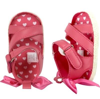 STEPPING STONES - Alpargatas rosados con moñito atrás