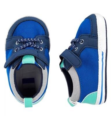 CARTERS - Zapato tenis azul y verde para niño