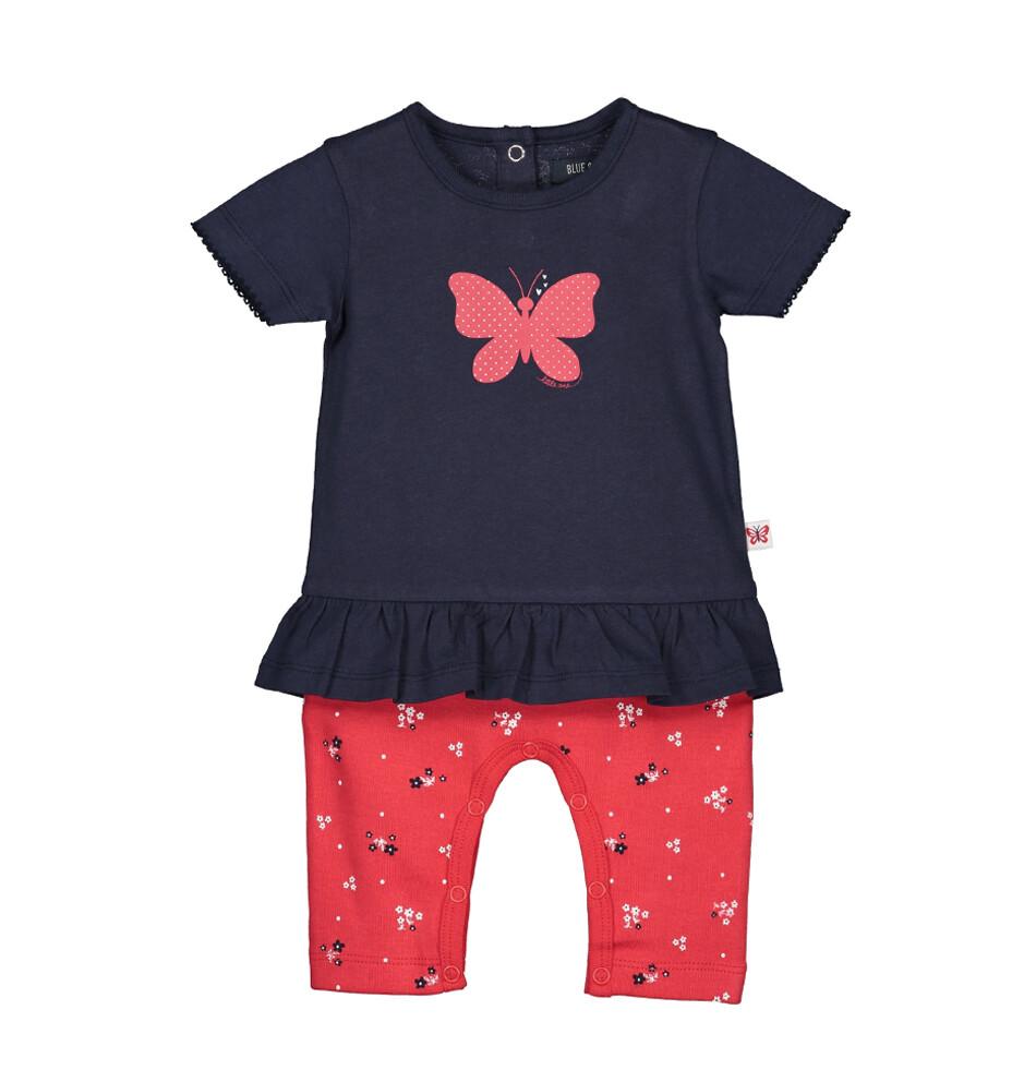 OVEROL BLUE SEVEN - m/c rojo, niña, Cute Butterfly