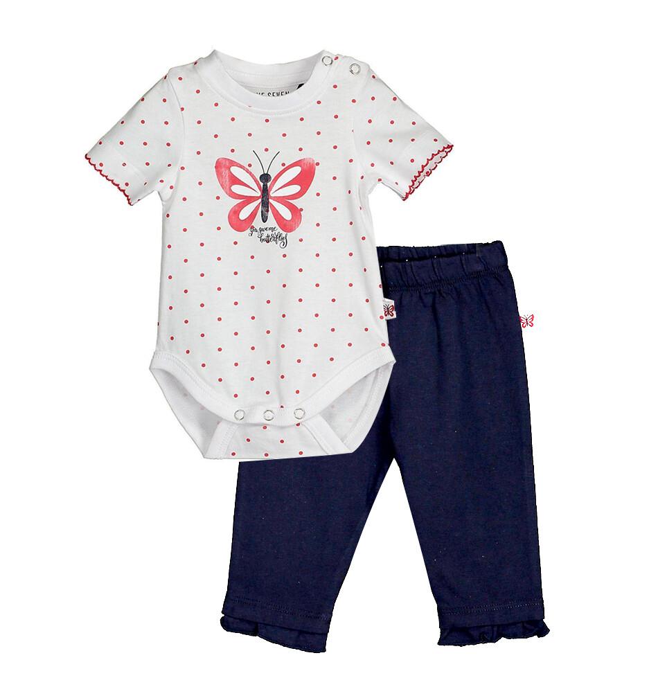 CONJUNTO BLUE SEVEN - body m/c y pantalón azul marino, niña, Cute Butterfly