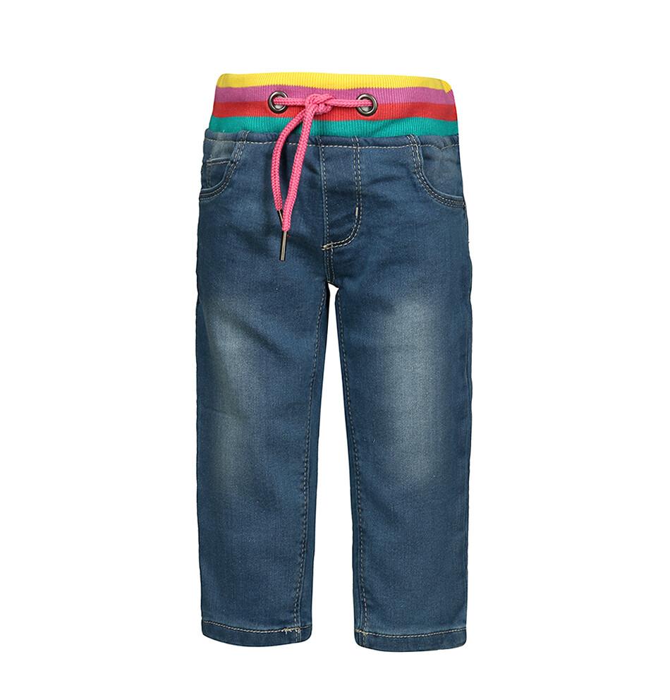 PANTALON BLUE SEVEN - Pantalón de lona elástico de colores en cintura, niña, Miss Dots