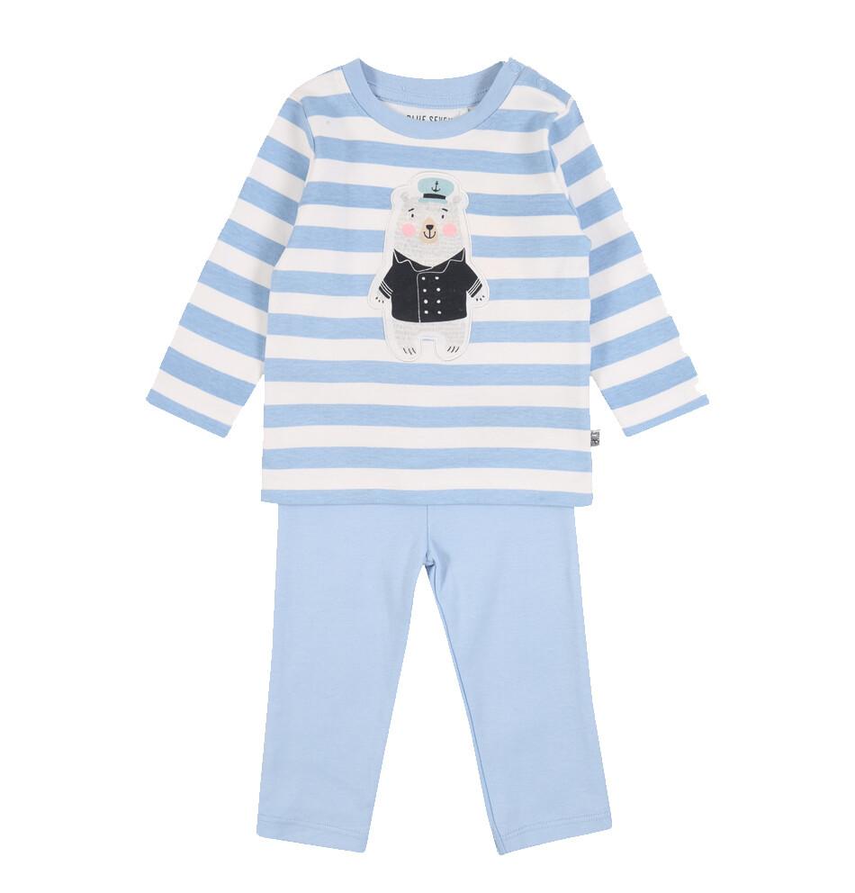 CONJUNTO BLUE SEVEN - camisa m/l y pantalón celeste, niño Ahoy There