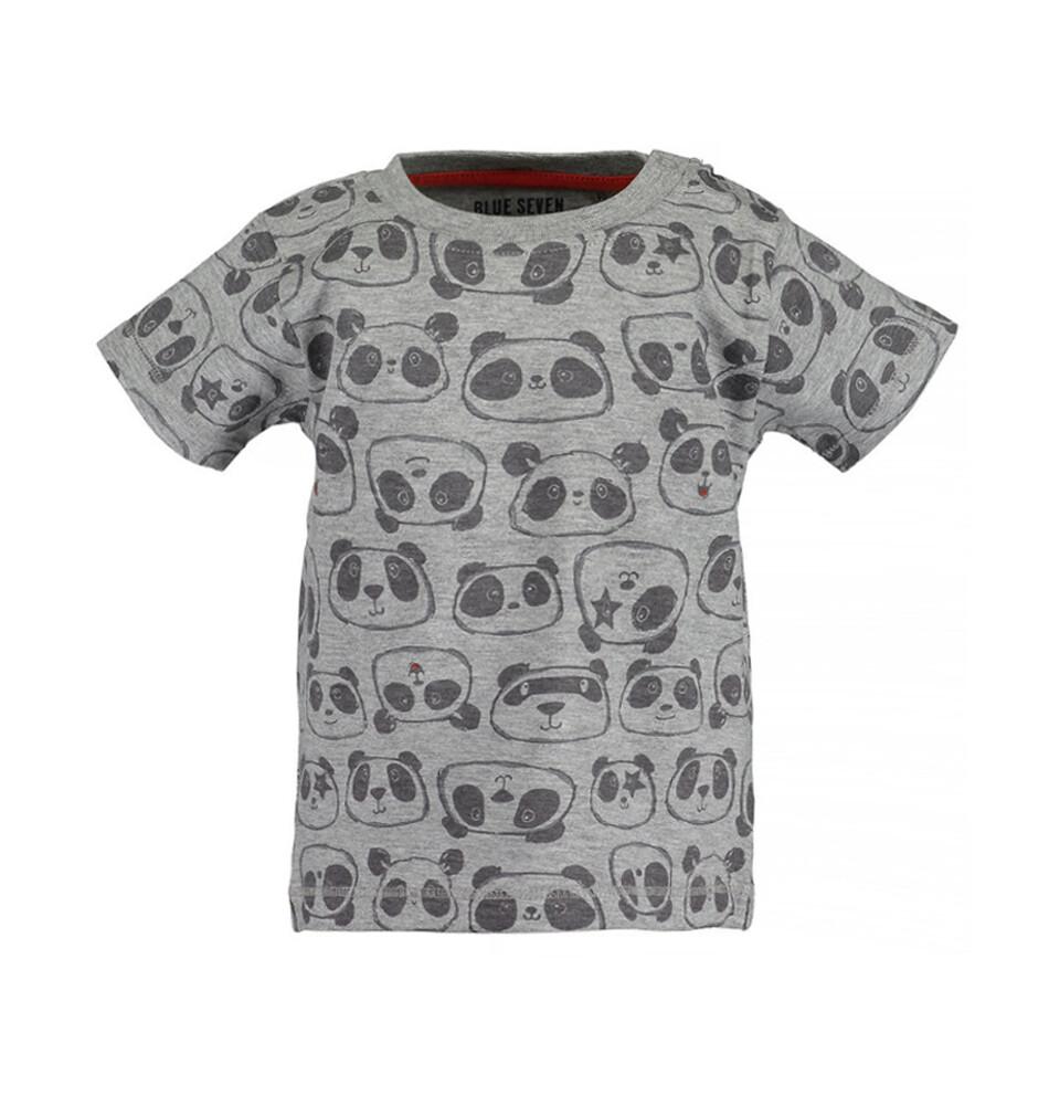 T-SHIRT BLUE SEVEN -m/c gris estampada, niño, Panda Mood