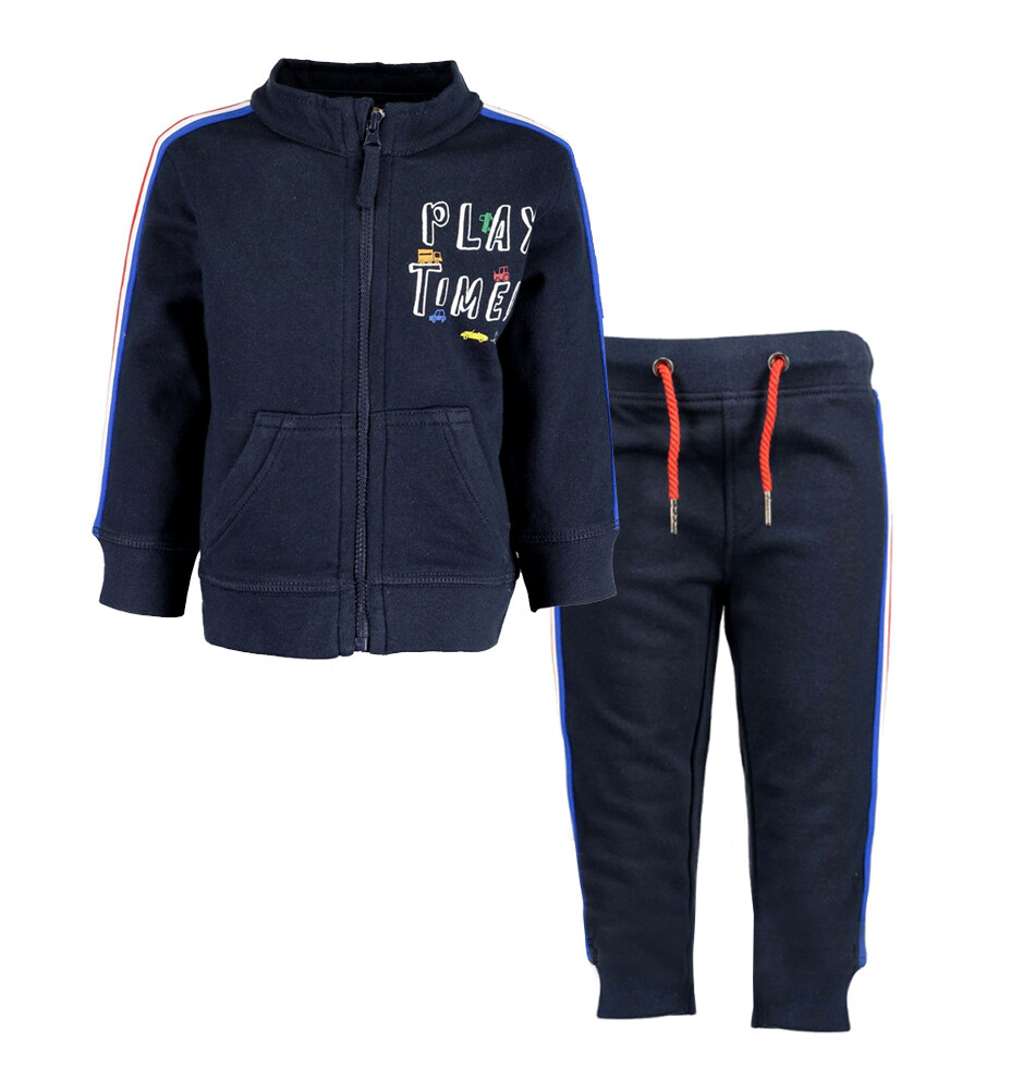 CONJUNTO BLUE SEVEN - sudadero azul marino con zipper y pantalón de pants, Fast Car - Niño