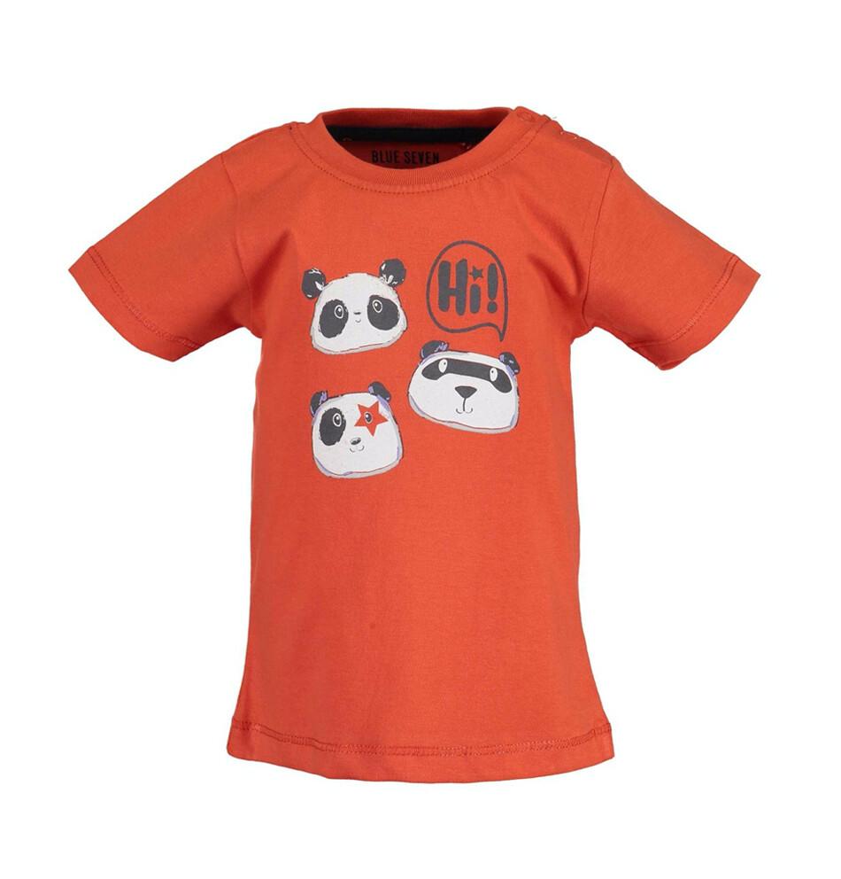 T-SHIRT BLUE SEVEN - m/c naranja, niño, Panda Mood