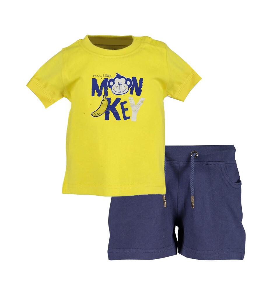 CONJUNTO BLUE SEVEN - t-shirt m/c y short, amarillo, niño, Cheeky Monkey