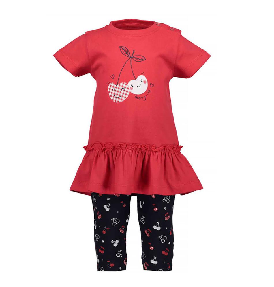 CONJUNTO BLUE SEVEN - blusa m/c y pantalón de flores, niña, Cherry Lady