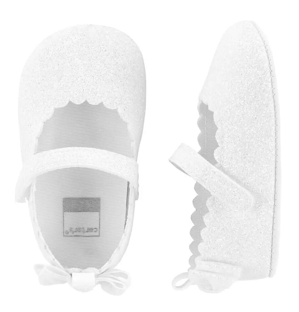 CARTERS  - Zapato de meter de niña blanco brillante