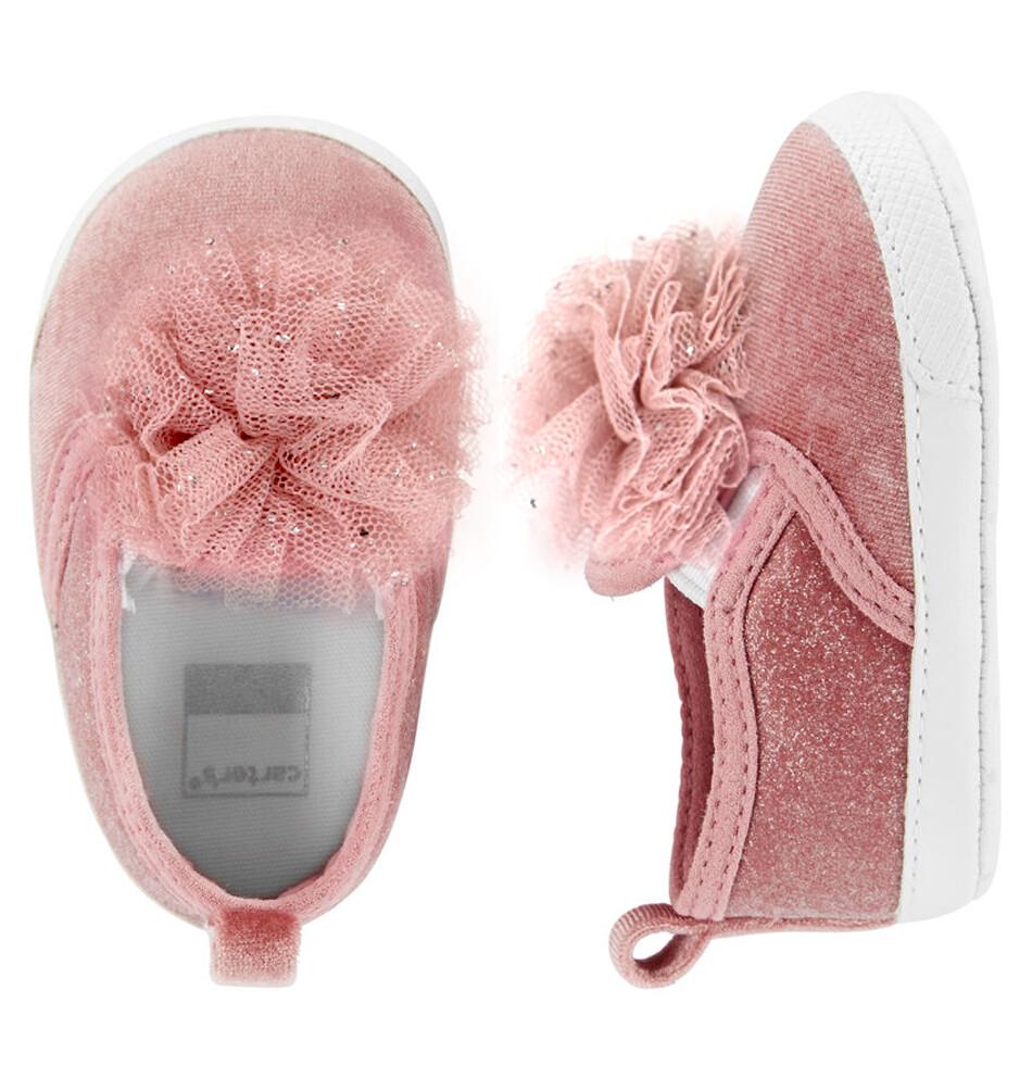 CARTERS  - Zapatos tenis con moño de tul rosados