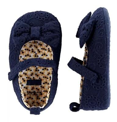 CARTERS  - Zapato de niña azul con moño