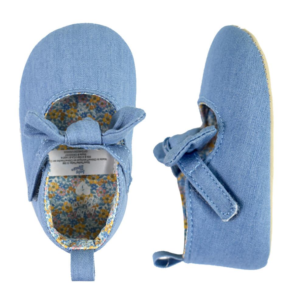 OSHKOSH - Zapatos casuales de chambray de niña con moño