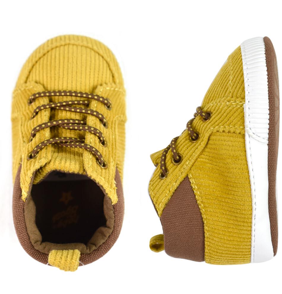 OSHKOSH - Zapato tenis alto amarrado café claro