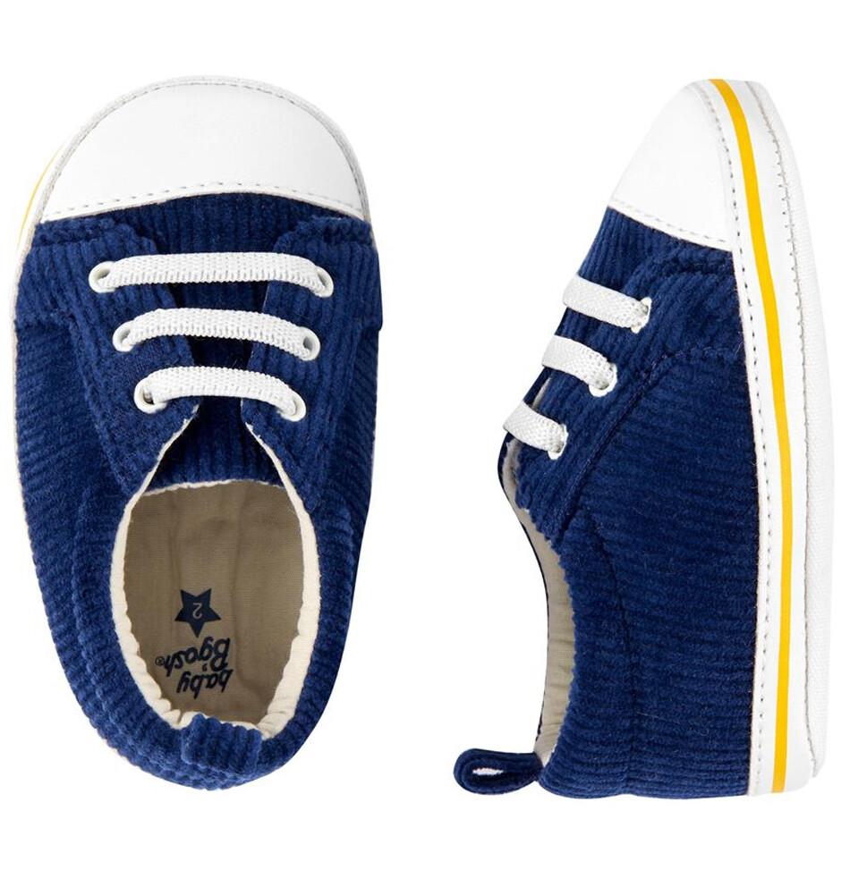 OSHKOSH - Zapato tenis azul marino de corduroy para niño