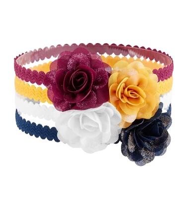 CARTERS  - set de 4 cintas para el cabello con florecita