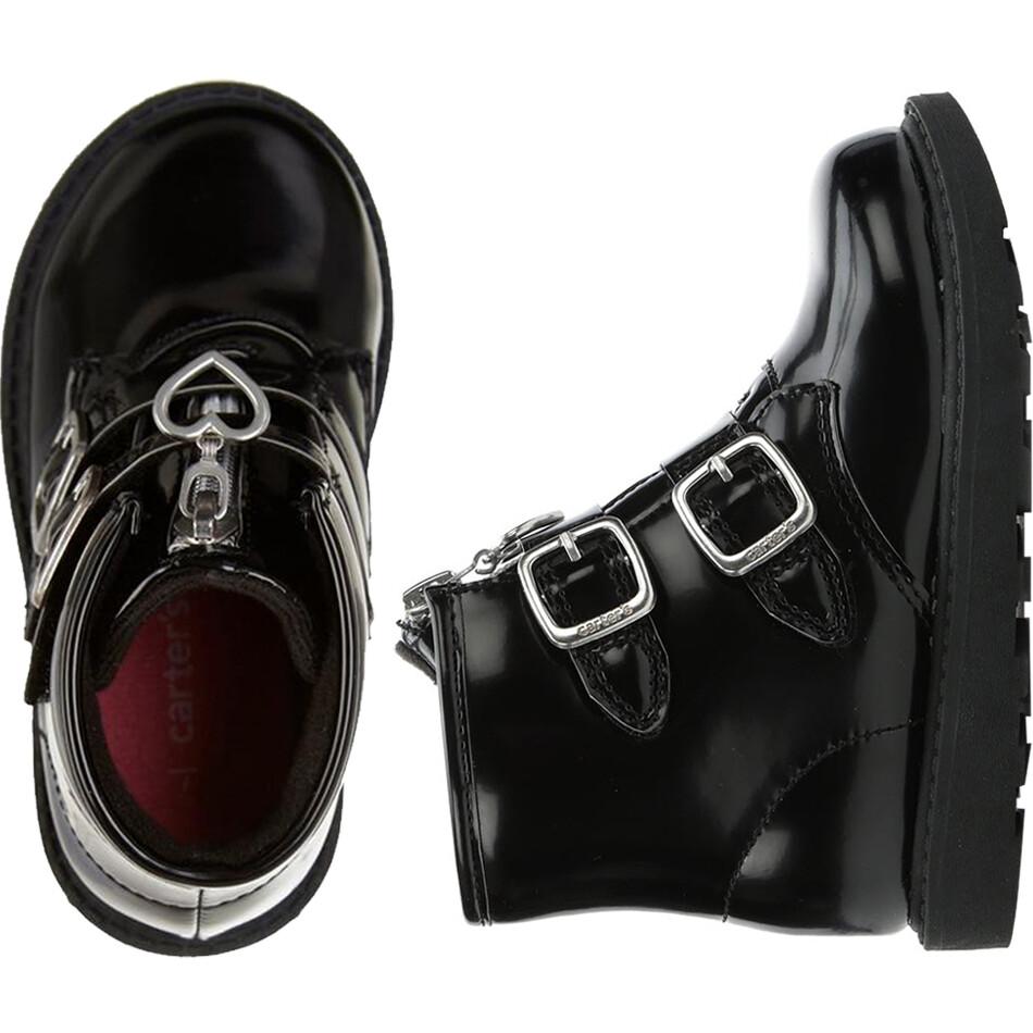 CARTERS - Botas con cinchos y hebillas, negras, BRINLEY