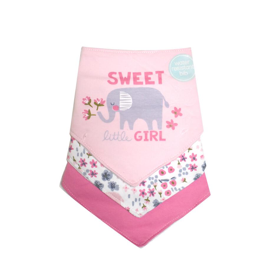 Baby Gear - Set de 3 baberos bandana - Niña