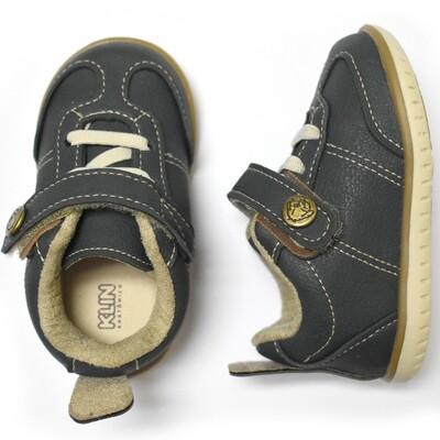 KLIN - Zapato casual tenis con cintas y cincho con velcro, azul, Cravinho Casual, Early Walkers