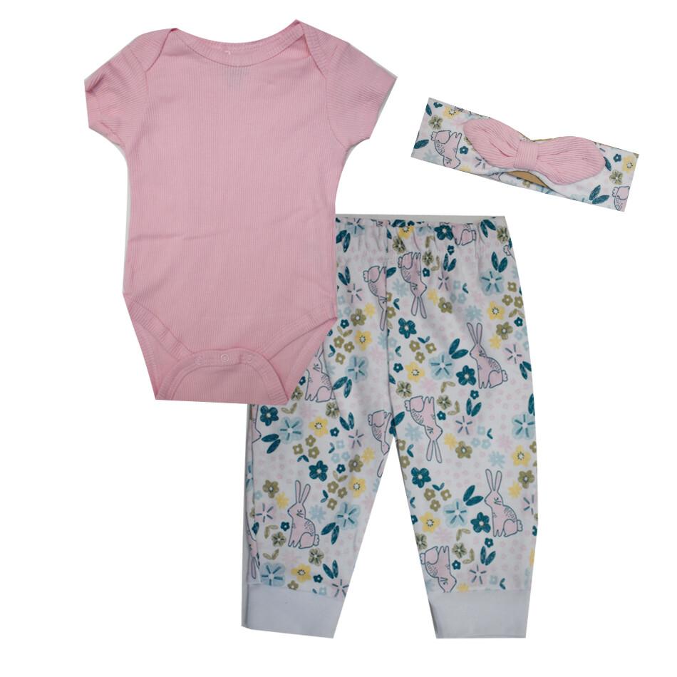 CONJUNTO CHICK PEA - 2 pz body y pantalón con diadema, lila