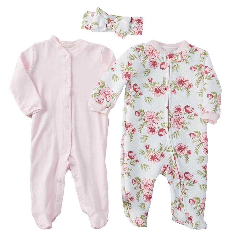 2 pk pijamas con una diadema, liso, estampado