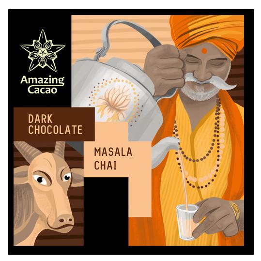 Индийский шоколад и чай масала 70%