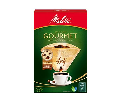 Melitta Gourmet 1х4, 80шт. Бумажные фильтры для воронки