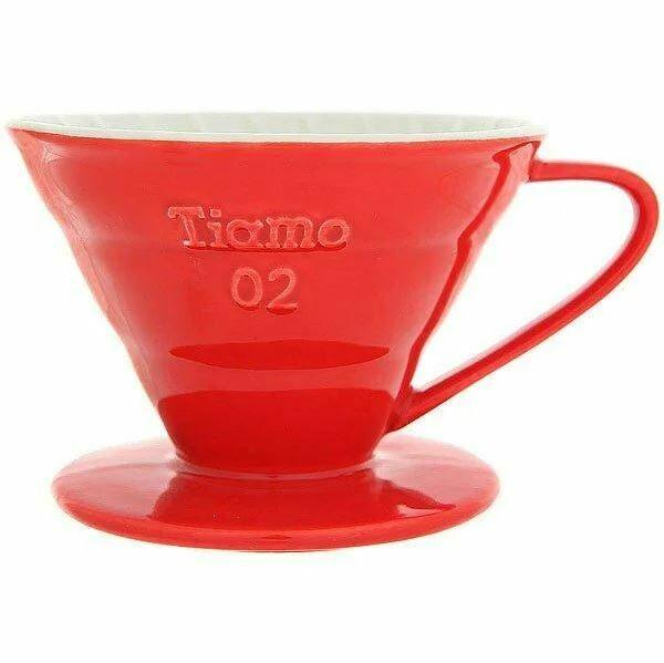 Воронка Керамическая Tiamo V02 красная