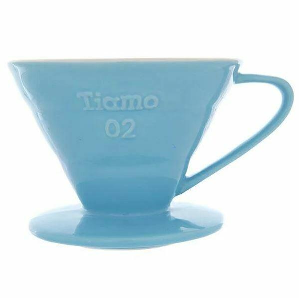 Воронка Керамическая Tiamo V02 голубая