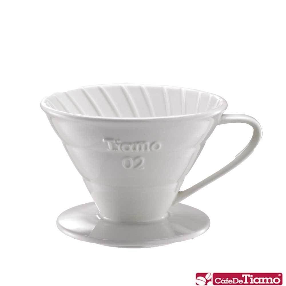 Tiamo Воронка керамическая белая v02