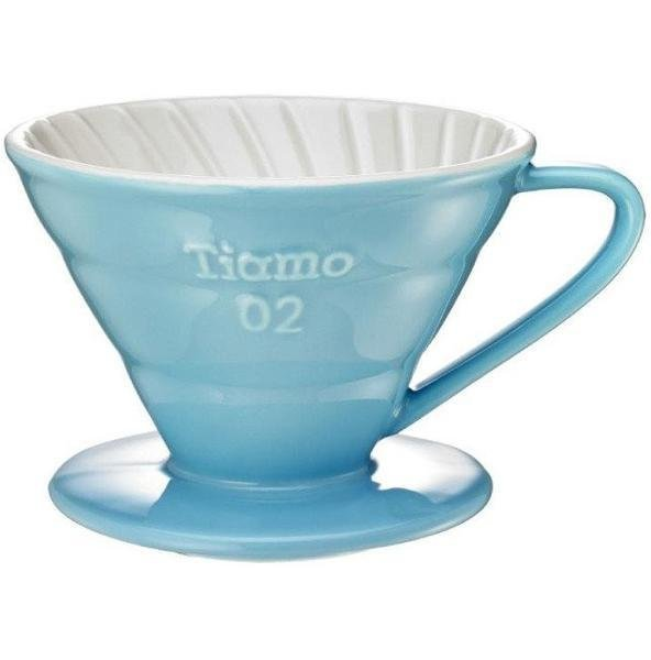 Tiamo Керамическая воронка голубая