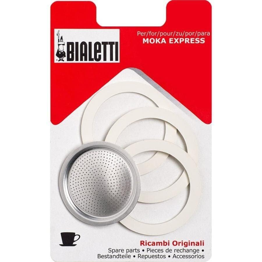 Сетка и уплотнители для гейзерной кофеварки Bialetti Mokka Express, Break, Dama, Moka Timer